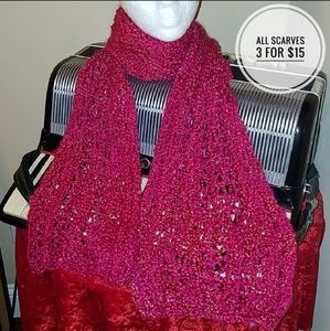 THICK & WARM RASPBERRY PINK WINTER SCARF